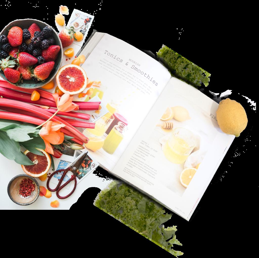 Photo recette et fruits Montrognon Traiteur
