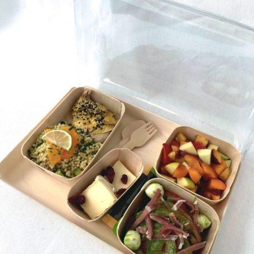 Photo d'un Plateau repas livré par Montrognon traiteur pour entreprises à Clermont Ferrand